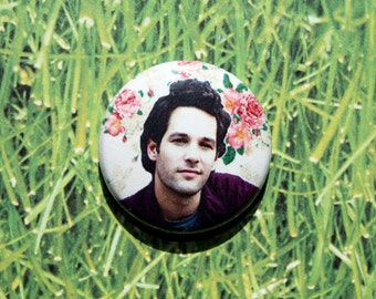 Paul Rudd- One Inch Pinback Button Magnet