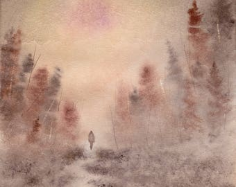 Everything's Ethereal WATERCOLOR painting