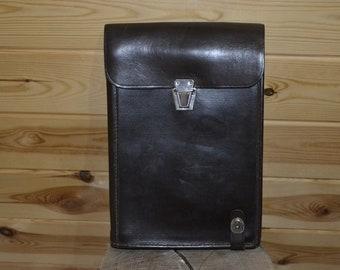Vintage Tablet Leather bag man officer's Soviet Army bag Soviet army military Leather retro bag Soviet era USSR Military bag Made in USSR