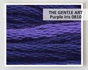 PURPLE IRIS 0810 Gentle Art GAST hand-dyed embroidery floss cross stitch thread at thecottageneedle.com