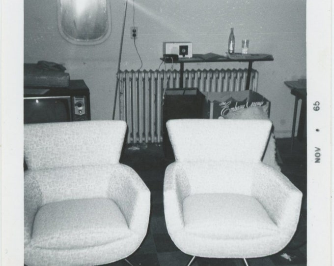 Vintage Snapshot Photo, 1965: Two Chairs [84664]