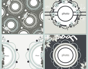 Shabby Chic Digital Scrapbooking Templates