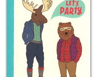Let's Party Alaskan Animals Card
