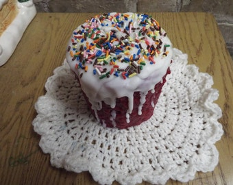 Highly Scented Grubby 4x4 BIRTHDAY CAKE CANDLE - You Pick Color & Fragrance