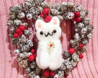 Exclusive Meowrry Xmas Christmas Wreath Christmas decoration cat decoration cat lover gift handmade cat christmas  Infinite Fluffs