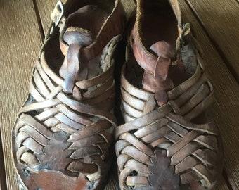 Vintage 70's huarache leather sandals