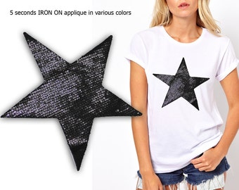 Iron On Star Patch Applique for DIY Crafts and Home Decor