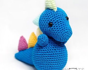 Blue Dragon Amigurumi, Crochet Dragon, Amigurumi Dragon, Dragon Toy, Dragon Plush,Dragon Crochet,Stuffed Dragon,Crocheted Dragon,Cute Dragon