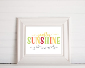 Scatter Sunshine Digital Print