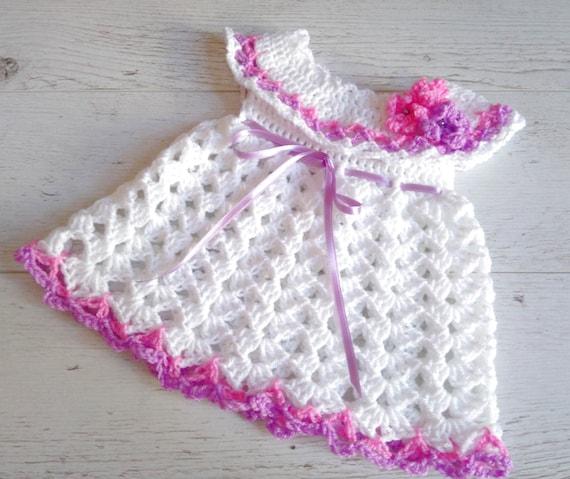 Nouveau N 233 Robe B 233 B 233 Fille Robe Au Crochet Robe Au Crochet