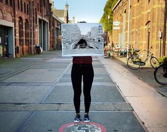 Spiegelgracht, Amsterdam - Silkscreen Print - Limited Edition