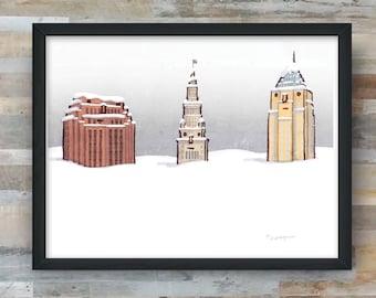 Cleveland Snow print