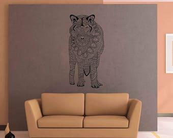Wolf Wall Decals animals Wall Decals Zentangle Style Wall Decals for nursery Kids Wall Decals Wall Decals for bedroom kik3187