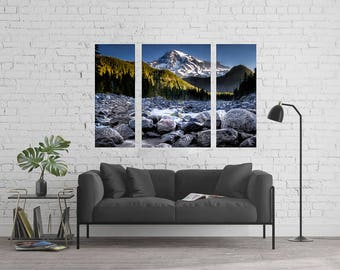 Mt Rainier 60x36 inch Canvas Art