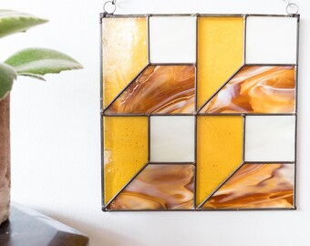 Stained Glass modern 3D squares