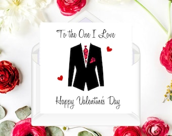 """African Fabric/Ankara/Wax Print Valentines Cards (6"""" square) - Love suit 1"""