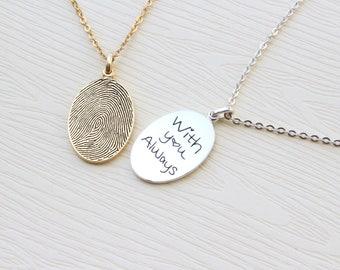Fingerprint necklace etsy popular items for fingerprint necklace mozeypictures Image collections