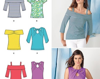 OUT OF PRINT Simplicity Pattern 1613 Misses Tops