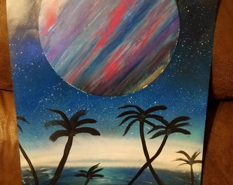 Colorful Moon 14x22 inch