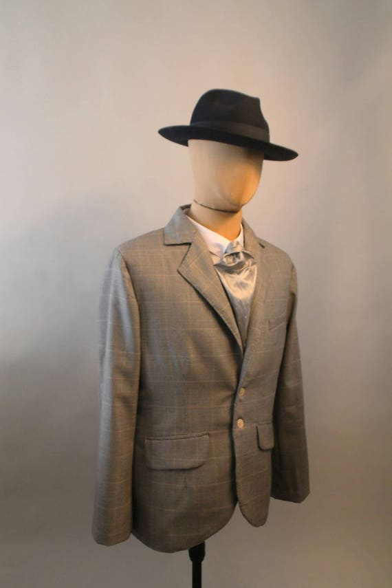1930s Style Mens Suits 1930s style tailored jacket vintage style suit 3 piece suit glen plaid checked sport coat Prince of Wale $764.33 AT vintagedancer.com