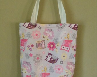 Pink and Purple Owl Tote Bag