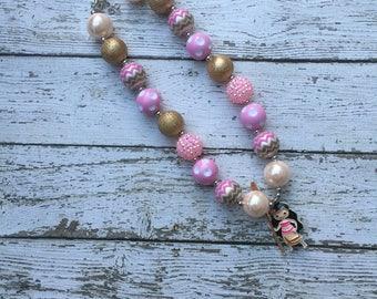 Disney Princess Moana Bubblegum Necklace, Princess Moana beaded necklace, Girls Chunky Necklace ,Bubblegum Chunky Necklace, Moana Necklace