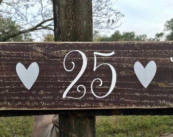 Wedding Date Wood Sign