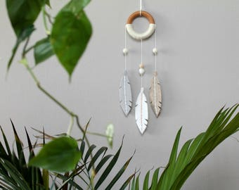 Modern Dream Catcher. Nursery Wall Decor. Bohemian Felt Wall Hanging.