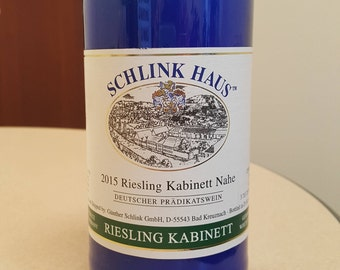 Schlink Haus Riesling - Wine Bottle Candle