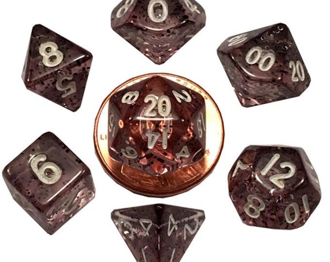 7-Die Set Ethereal: 10mm Black/White - MTD4203 - Metallic Dice Games
