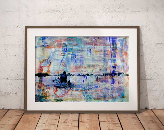 Waterworld XX by Sven Pfrommer - Artwork is ready to hang with a solid wooden frame