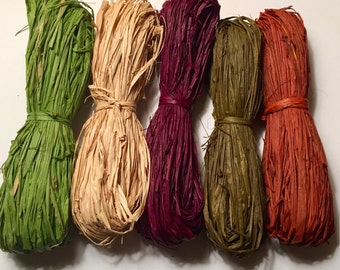 Coloured Raffia Skein
