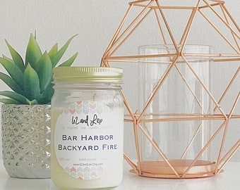 Bar Harbor Backyard Fire Soy Candle / Candles / Summer Scents / Sandalwood candle / Sandalwood scented candle