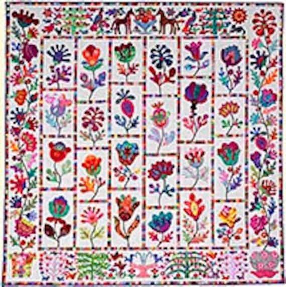 FLOWER GARDEN Pattern by Kim McLean - Appliqué