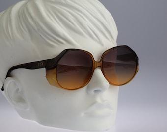 Christian Dior 2021 80, Vintage oversized round sunglasses, 70s rare and unique / NOS