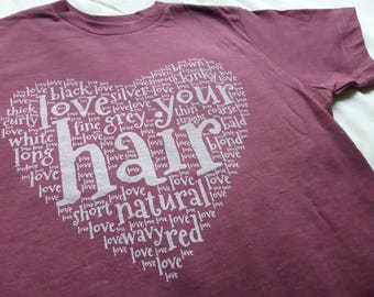 NATURAL HAIR FITTED Women's Tee Positive Self Love Pride T-shirt