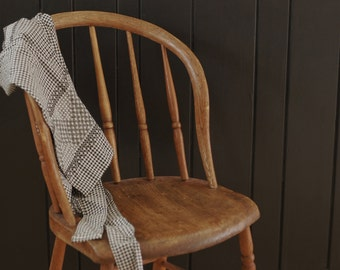 Antique Wood Hoop Back Windsor Chair, Spindle Back Chair