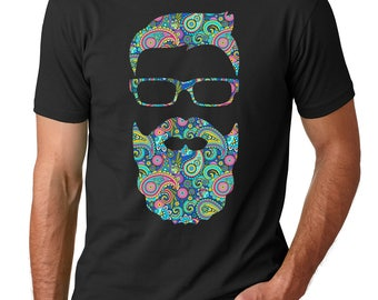 Bearded Brown Guy Paisley Shirt