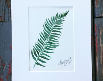 Fern Watercolor
