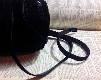 """33 yard roll of 3/8"""" wide classic black velvet ribbon"""