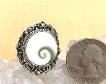 Shiva Eye Ring, Size 9 1/2