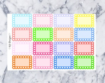 Assorted Bubble Half Boxes || 16 Planner Stickers