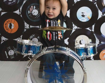 Rockstar party, Two Rocks, one rocks etc, second birthday, Rockstar birthday shirt, rock and roll party, music party
