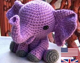 Amigurumi Patterns Elephant : Pattern amigurumi cuties bunny puppy and teddy crochet
