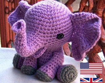 Baby Elephant-Instant Download Crochet Pattern-Toy Elephant-Amigurumi Elephant-DIY Crochet Toy-Stuffed Toy Animal-Elephant Tutorial
