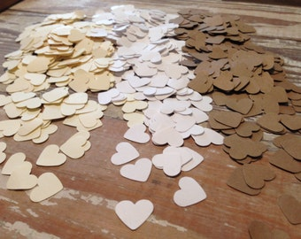 SALE!! Heart confetti, wedding hearts, party decoration, rustic, shabby chic, bridal tea, engagement, vintage, birthday, baby shower