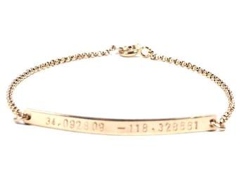 Skinny Jessica bracelet. Gold filled or Sterling Silver.