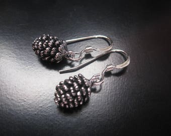 Pine Cone Earrings, Silver Earrings, Pinecone Earrings, Pine Cone Jewelry, Sterling Silver, Sterling Silver, Fall Winter Metal Dangle