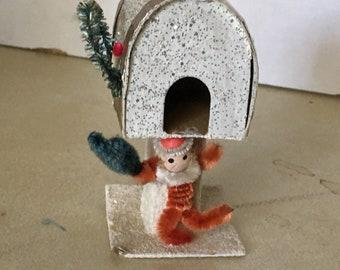 Very vintage Christmas Elf mailbox
