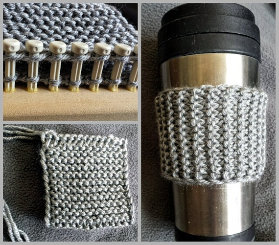 Loom Knitting Patterns Squishy Cup Cozy In Regular Small